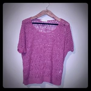 Maurices Short Sleeve Knit Tunic Sweater Size 0